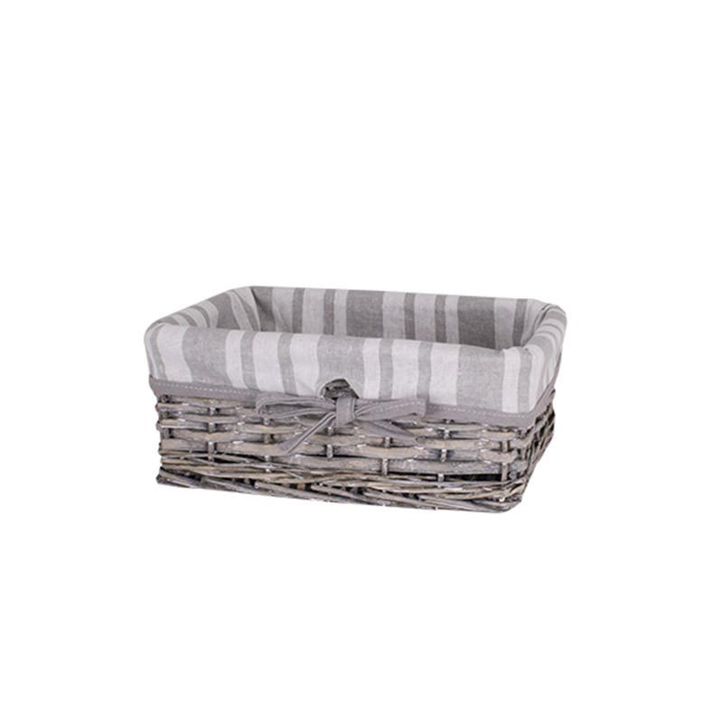 Корзина для белья плетеная серая AWD02241579