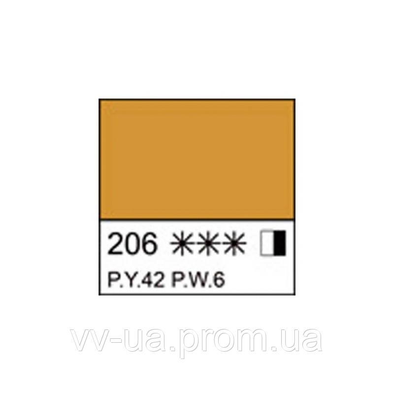 Краска акриловая Ладога, Охра светлая, 46 мл, Невская палитра ЗХК (351401)