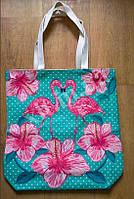 Пляжная сумка Фламинго, фото 1