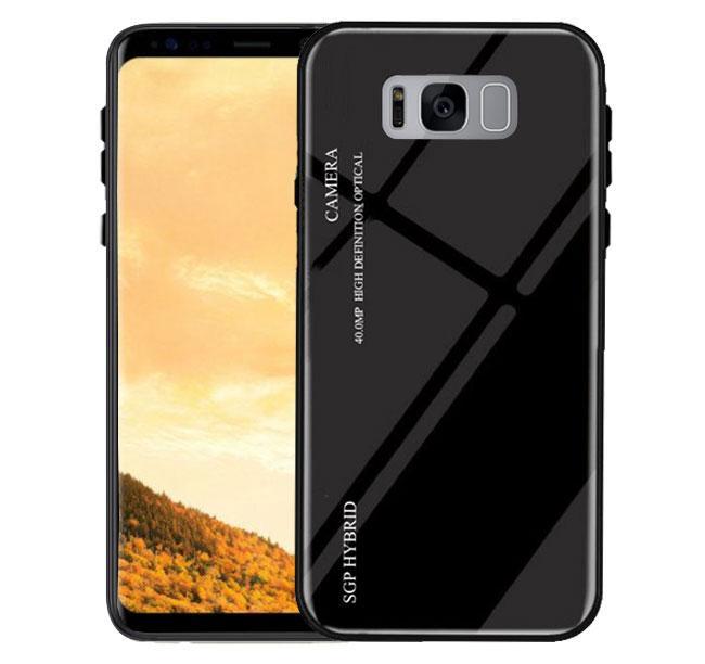 Чехол бампер Primo Gradient Glass для Samsung Galaxy S8 Plus (SM-G955) - Black