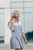 Платье летнее полоска темно синего цвета, фото 1