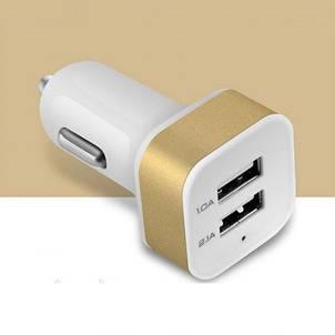 АЗУ авто зарядка 2 USB mini цветной квадратный Blister case переходник в машину, фото 2