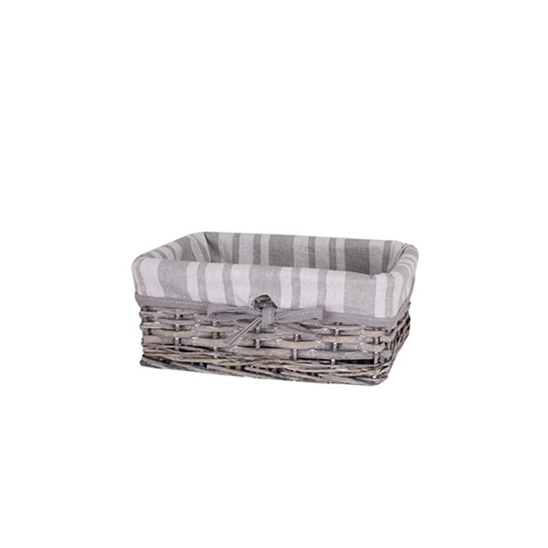 Корзина для белья плетеная серая AWD02241580