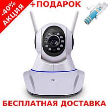 Беспроводная поворотная IP Camera Onvif+PTZ с ночной подсветкой + ethernet + монопод