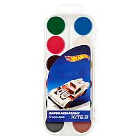 Краски акварельные Kite Hot Wheels, 12 цветов HW19-061