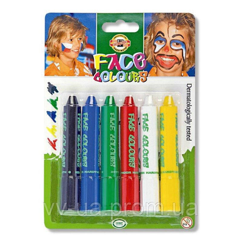 Краски для лица Koh-i-Noor Standard colors, 6 шт. (4610_6)