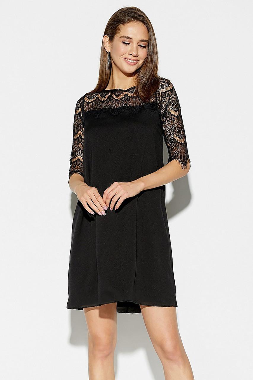 (S, M, L) Вишукане чорне плаття з мереживом Skay