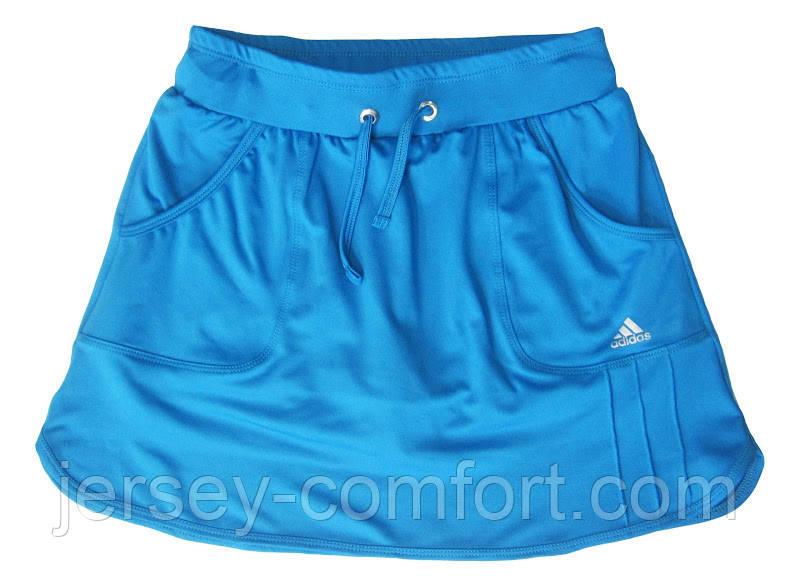 Шорты для тенниса (теннисные шорты) - юбка шорты для тенниса.  Юбка спортивная бирюзовая. Мод. 4051.