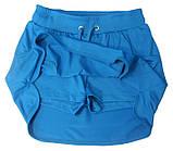 Шорты для тенниса (теннисные шорты) - юбка шорты для тенниса.  Юбка спортивная бирюзовая. Мод. 4051., фото 2