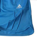 Шорты для тенниса (теннисные шорты) - юбка шорты для тенниса.  Юбка спортивная бирюзовая. Мод. 4051., фото 3
