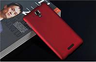 Чехол накладка бампер для Lenovo S8 S898T бордовый