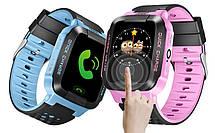 Детские наручные смарт часы Smart Baby Watch A15 смарт картон часы телефон GPS трекер+ монопод, фото 3