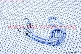 Резинка для багажника велосипеда, круглая с крючками металлическим, 1 метр