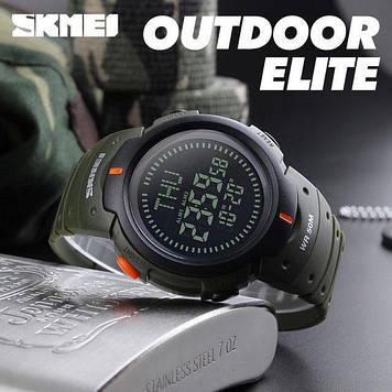 Skmei 1231 зеленые спортивные мужские часы с компасом
