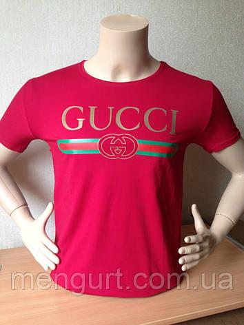 Футболка мужская молодежная гучи gucci  3d Турция, фото 2