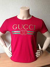 Футболка мужская молодежная гучи gucci  3d Турция, фото 3