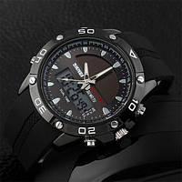 Мужские часы на солнечной батарее Skmei Solar 1064 Черные