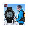Skmei 1216 Compass черные спортивные мужские часы с компасом, фото 7