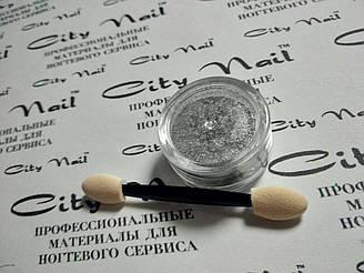 Втирка для нігтів срібло Металік