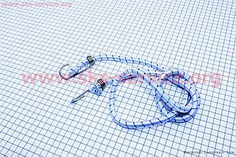 Багажна гумка для велосипеда, кругла з гачками металевим, 1,5 метр
