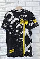 Мужская трендовая футболка Off
