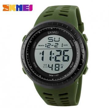 Skmei 1167 Tactic зеленые спортивные мужские часы