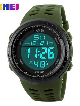 Cпортивные мужские часы Skmei Tactic 1167 Зеленые