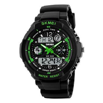 Детские спортивные часы Skmei 0931 S-SHOCK зеленые