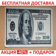 Коврик для мышки 100 USD (20*28*0.2) Тканевые коврики Поверхность для лазерной мыши Подстилка для мыши