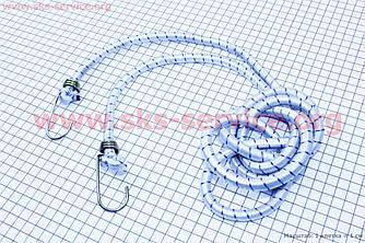 Багажна гумка для велосипеда, кругла з гачками металевим, 2 метра