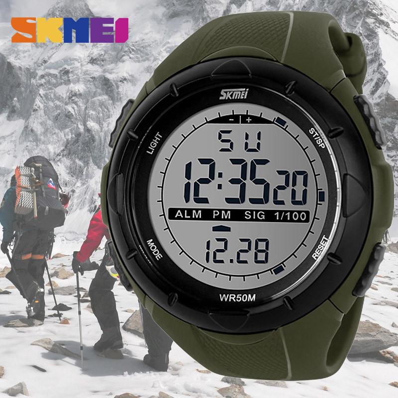 Skmei 1025 Dive зеленые спортивные мужские часы