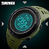 Skme 1254 compass зеленые спортивные часы с компасом, фото 3