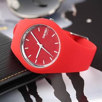 Женские часы Skmei 9068 RUBBER RED