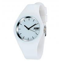 Skmei 9068 RUBBER белые женские часы