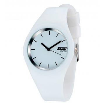 Женские часы Skmei  9068 RUBBER  Белые