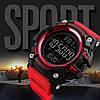 SKMEI 1384 красные спортивные мужские большие часы, фото 4
