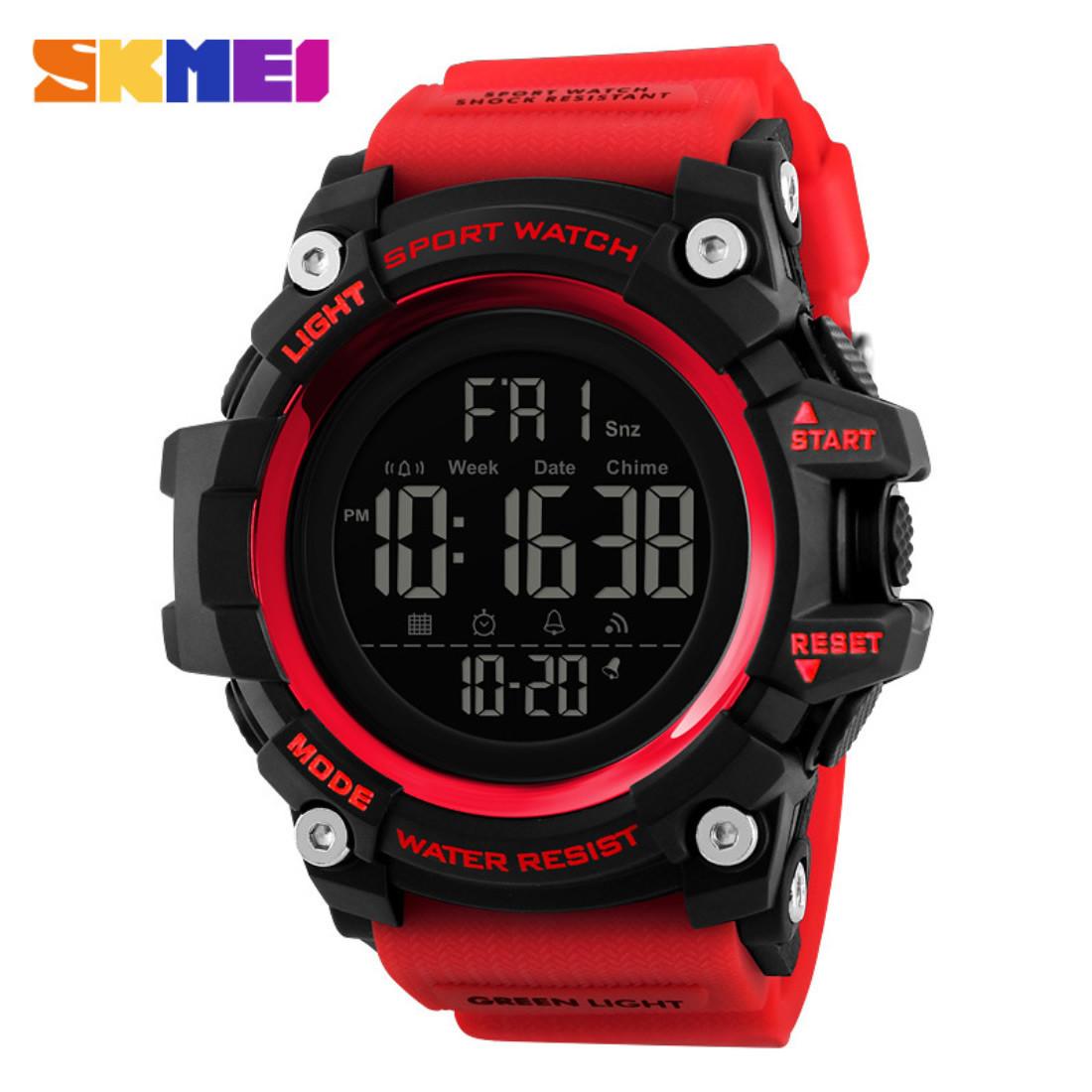 SKMEI 1384 красные спортивные мужские большие часы