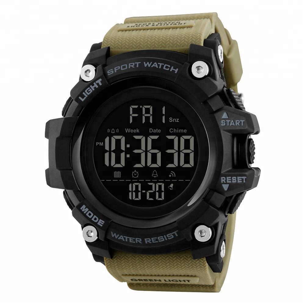 SKMEI 1384 Хаки спортивные мужские часы песочные