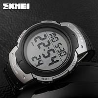 Skmei 1068 Серые Спортивные мужские часы с большими цифрами