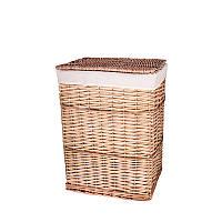 Корзина для белья плетеная с крышкой бежевая AWD02241582