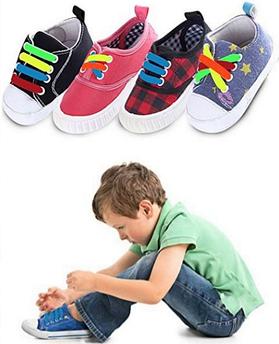 Детские шнурочки. Силиконовые шнурки для детской обуви