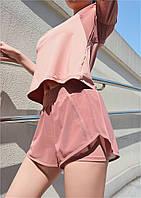 Женские спортивные шорты персиковые