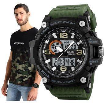 Skmei 1283 Disel зеленые спортивные часы