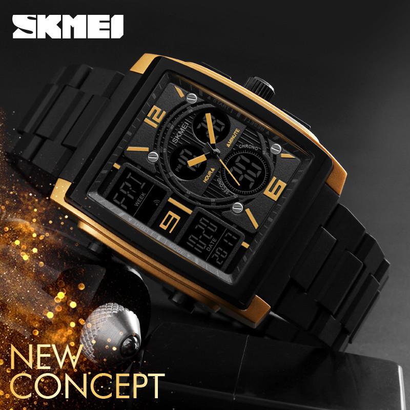Мужские часы Skmei 1274 Gold