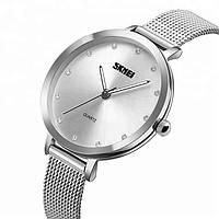 Skmei 1291 Angelus серебристые оригинальные женские часы