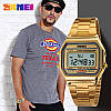 Часы в ретро стиле Skmei 1123 POPULAR золотые, фото 8