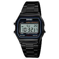 Skmei 1123 POPULAR черные часы в ретро стиле