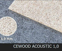Акустическая панель CEWOOD, шир.волокна 1 мм, натур. цвет, 2400мм. * 600мм. * 15мм.
