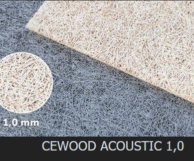 Акустическая панель CEWOOD, шир.волокна 1 мм, натур. цвет, 1200мм. * 600мм. * 25мм.