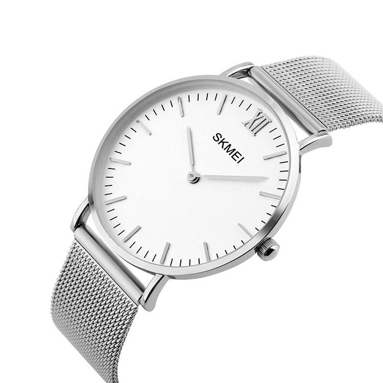 Skmei 1182 Cruizei серебристые оригинальные тонкие часы
